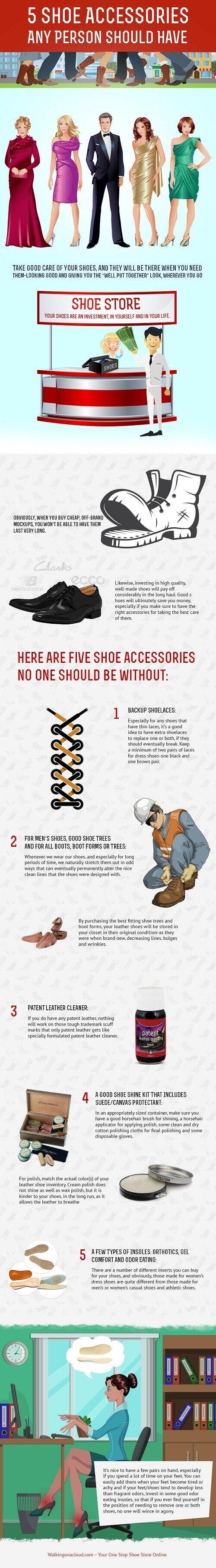Accesorios para calzado que deberías tener #infografía