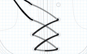 cordones diagonal
