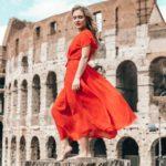 ¿Qué color de zapatos usar con un vestido rojo?